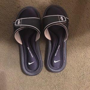 Nike Shoes | Womens Nike Black Slides